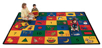Carpets For Kids Blocks of Fun Run Carpet, 8 Feet 4 Inches x 11 Feet 8 Inches, Rectangle Item Number 521197