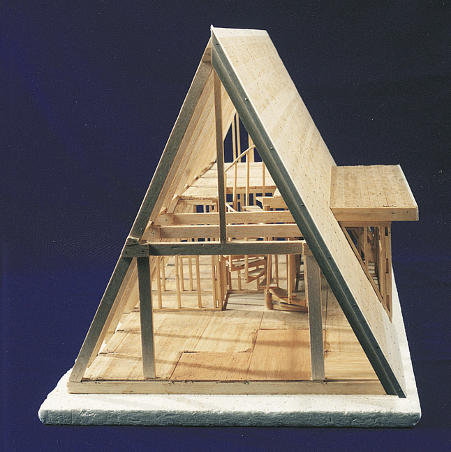 Brodhead Garrett A Frame House Model Kit 6 Drawings Ages 8 And Up Wood