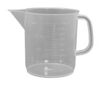 Frey Scientific Low Form Beaker with Handle, 1000 Milliliters, Polypropylene Item Number 594516