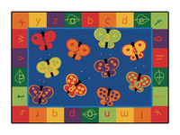 Carpets for Kids KIDSoft 123 ABC Butterfly Fun Rug, 8 x 12 Feet, Rectangle Item Number 1540075