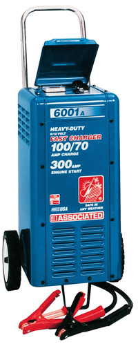 Associated Equipment Heavy Duty Battery Charger, 6/12 V, for Use with Crank Assist Item Number