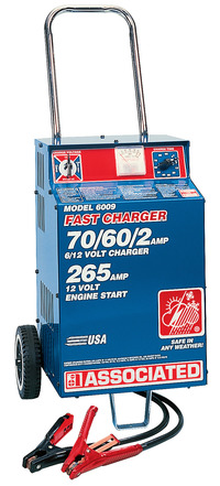 Associated Equipment Heavy Duty Fast Charger, 6/12 V Item Number