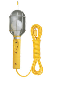 Bayco Incandescent Metal Shield Utility Light with 25 ft 16/3 AWG SJT Cord, 75 W, Yellow Item Number