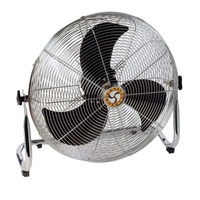 Chelsea Fans Industrial Pivot Fan with Workstation Low Stand, 4 in Dia, 3-Speed, 115 V, 10 ft Cord Item Number