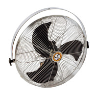 Chelsea Fans Industrial Pivot Fan with Workstation Yoke Mount, 4 in Dia, 3-Speed, 115 V, 10 ft Cord Item Number