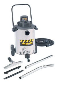 Shop-Vac 2-Stage Contractor Duty Wet/Dry Vacuum Cleaner, 10 gal Tank, 2 HP, 120 V, 18 ft Cord, Stainless Steel Item Number