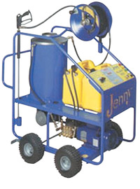 Jenny Burner Oil Fired Hot Pressure Washer, 5 HP, 2000 psi, 4.5 gpm Flow, Stainless Steel Item Number