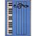 Blue w/Piano Keys