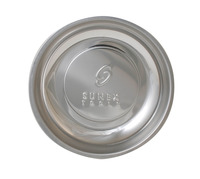 Sunex Intl Round Mighty Magnetic Parts Tray, 6 in, Stainless Steel Item Number